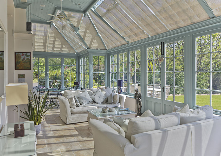 Genuine French Pinoleum in a beautiful Vale Garden Houses conservatory