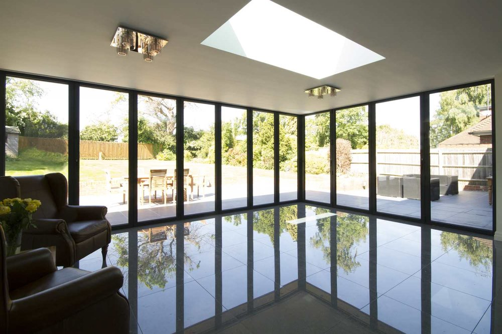 Bi-folding doors from inside - Blinds Concealed.jpg