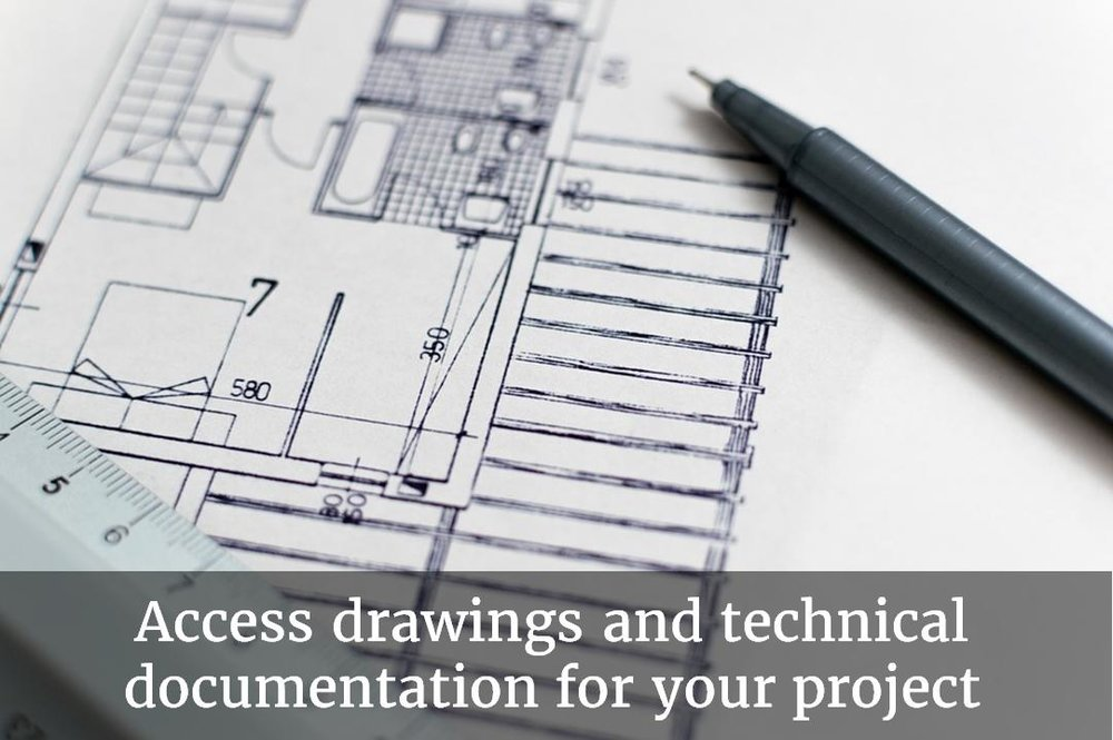 Access drawings and technical documentation for your project