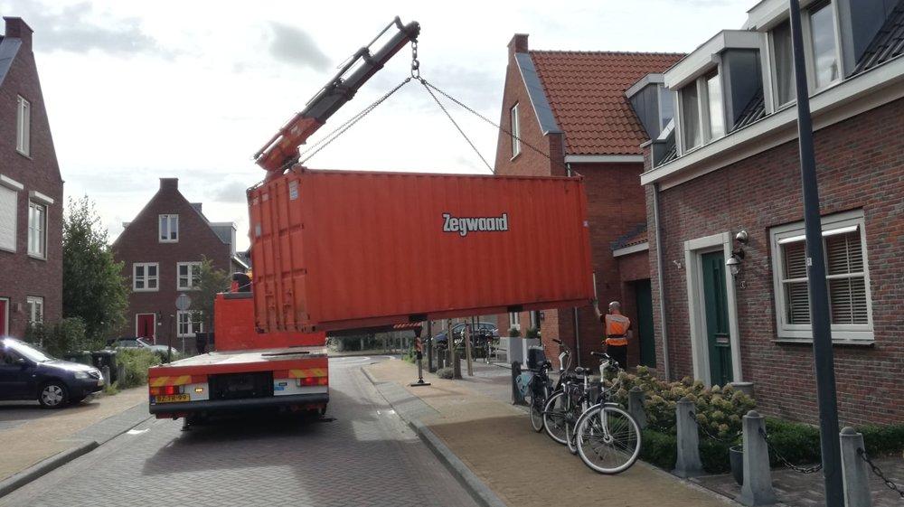 Gelukkig konden onze spullen in een container