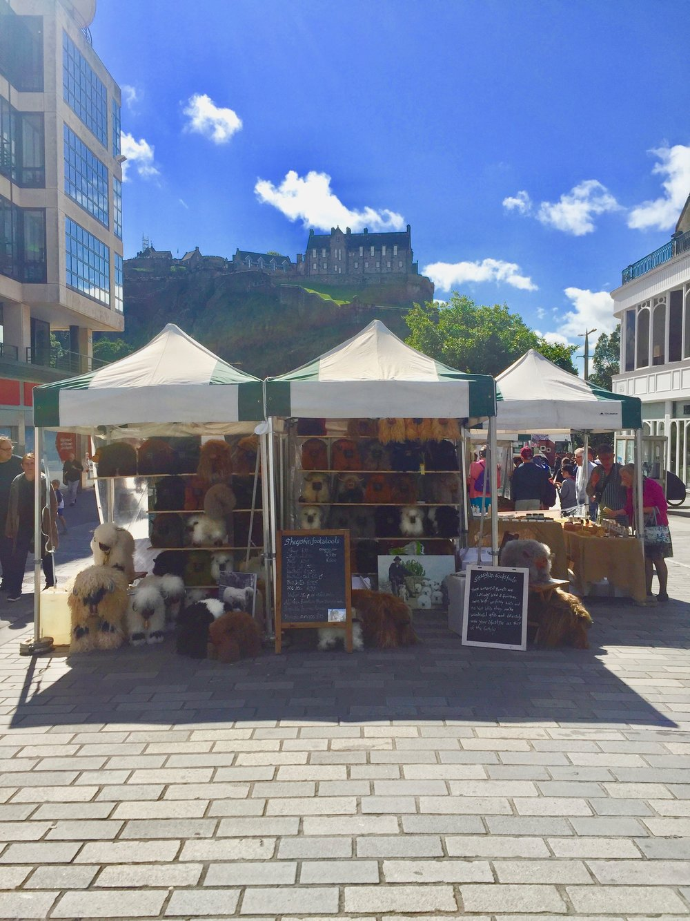 My stand infront of Edinburgh castle