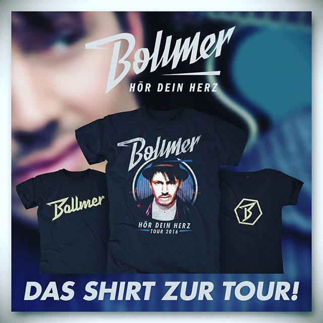 Hier gibt es das Shirt zur HÖR DEIN HERZ TOUR! http://bollmer.bravado.de/
