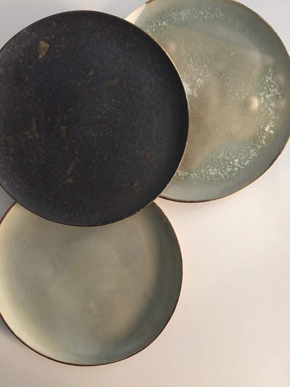 Wood-fired plates.