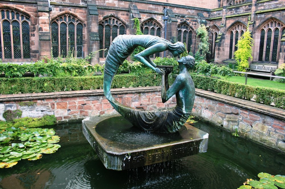 The Water of Life - in the Cloister Garden of Chester Cathedral