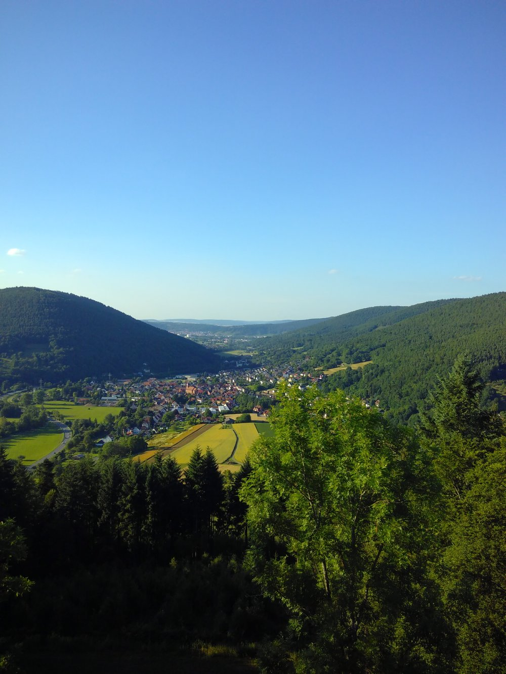 Blick vom Gotthardsberg auf Weilbach