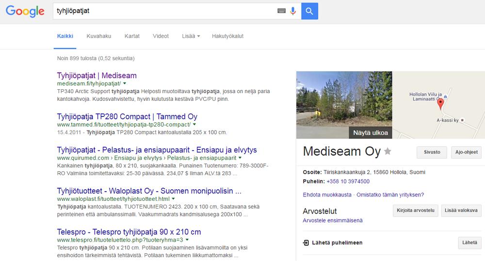 (www.mediseam.fi, on muuten meidän asiakas)
