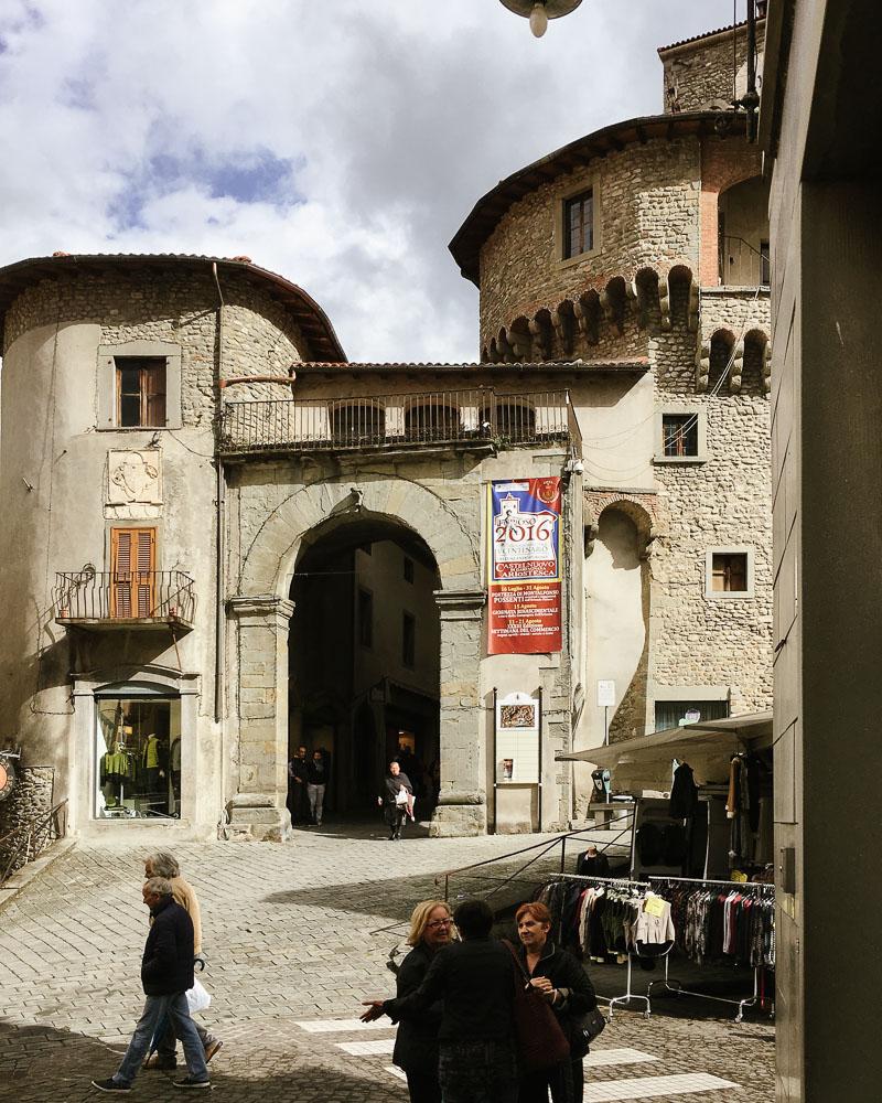 Entrance to fortress Castelnuovo di Garfagnana Italy