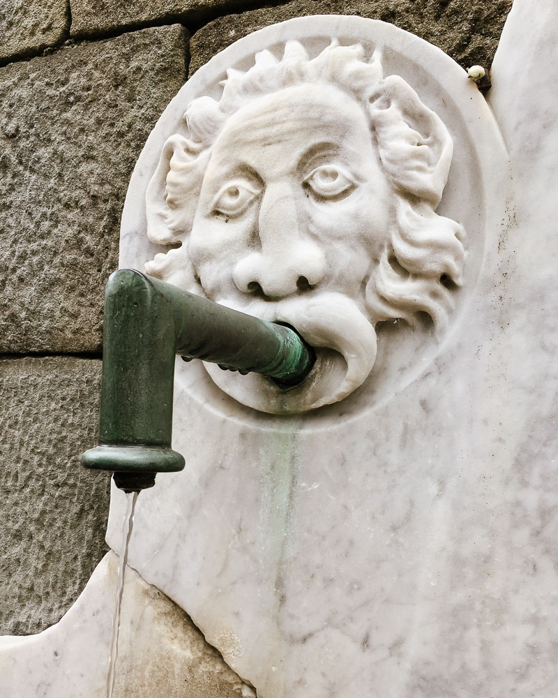 Lion drinking fountain Castelnuovo di Garfagnana