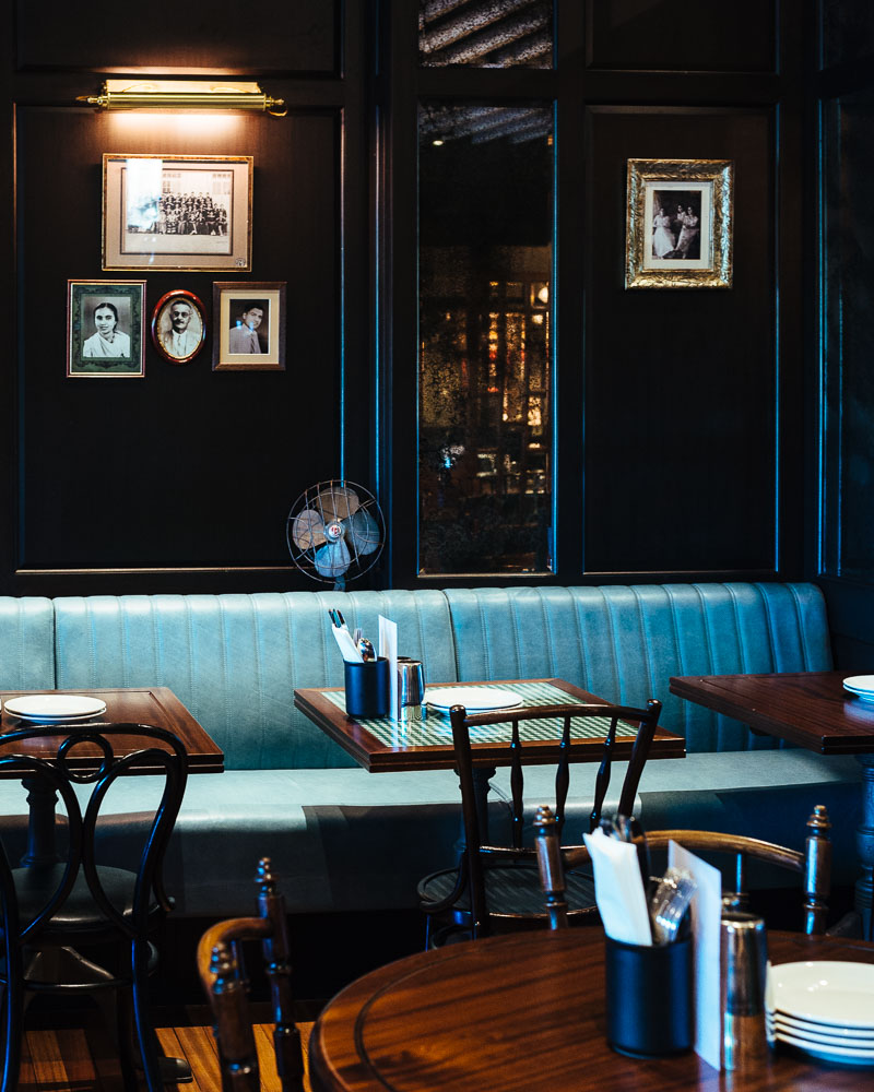 Dishoom Edinburgh diningroom vintage decor