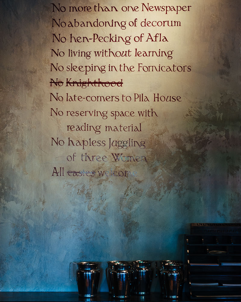 Dishoom Edinburgh diningroom rules