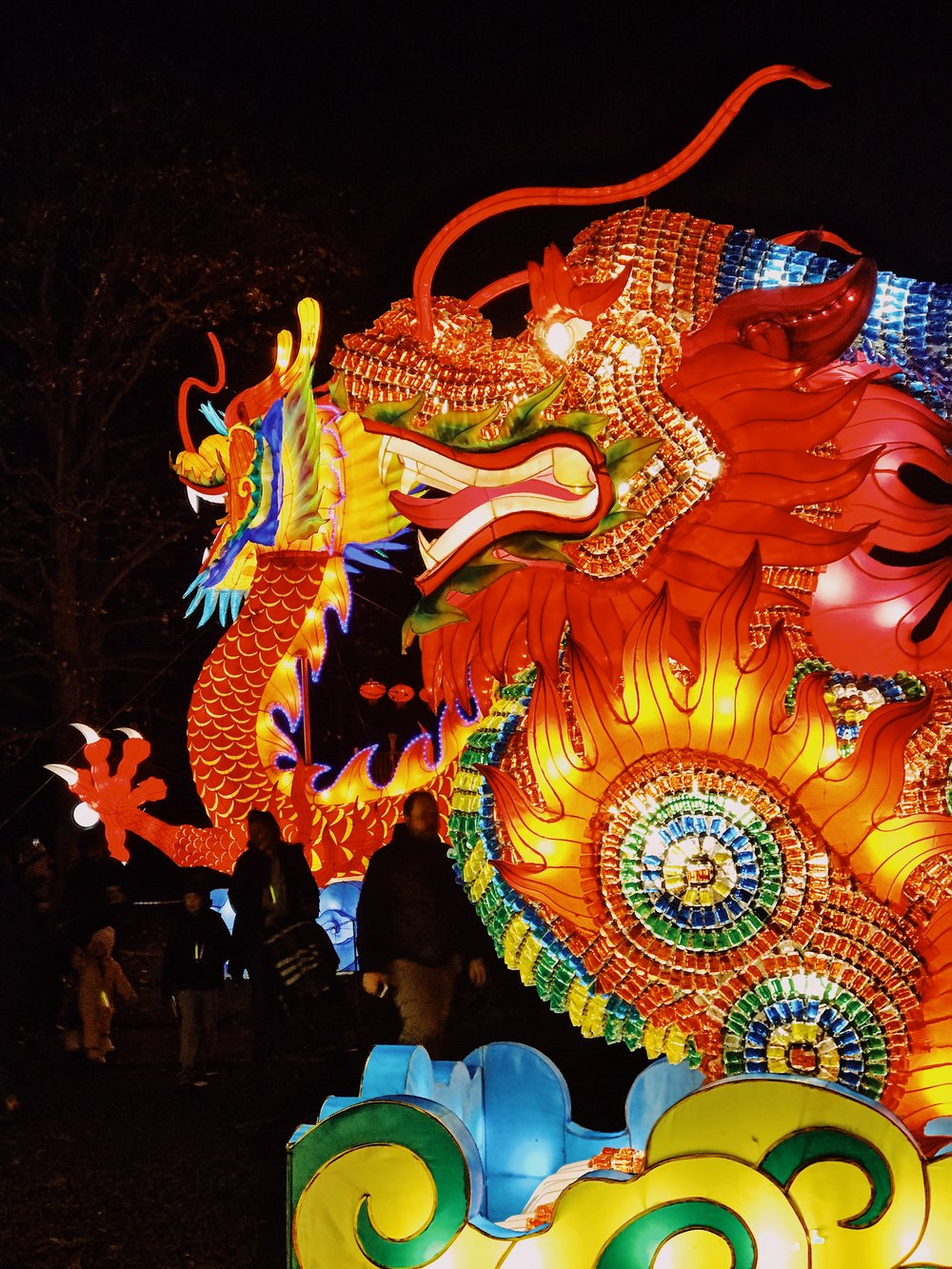 Dragon Chinese lantern display at Edinburgh Zoo