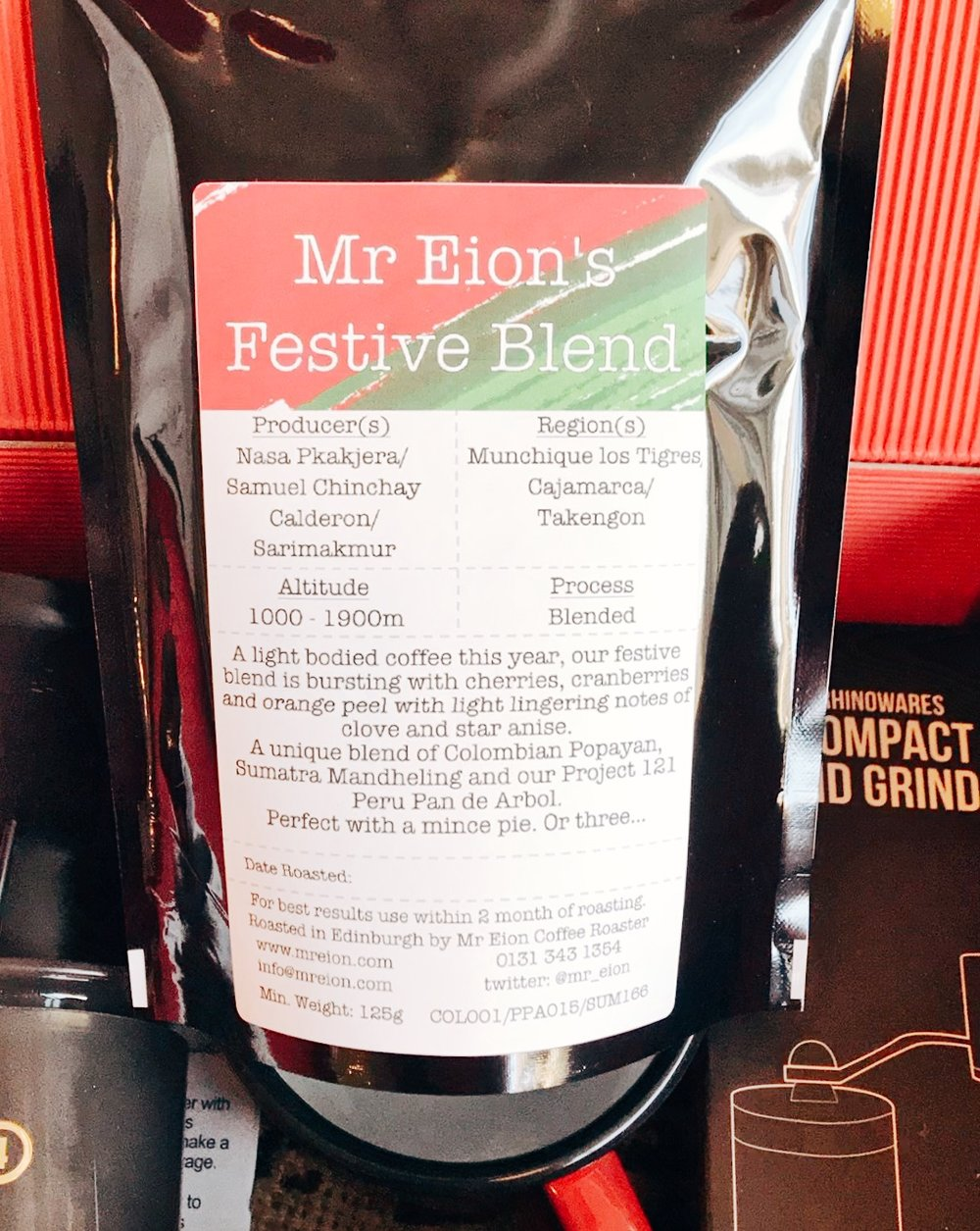 Mr Eion's festive coffee blend