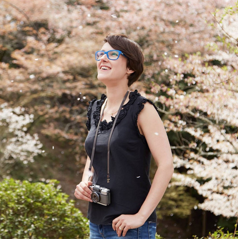 Rachel is a travel and food photographer living with her family in Edinburgh and Tuscany - Chasing blossom in Japan, photo credit Hirofumi Nakaji