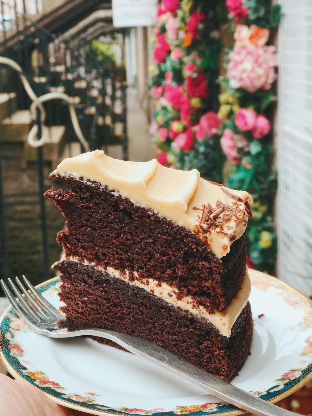 Off the scale chocolate cake at Lovecrumbs cafe, Stockbridge
