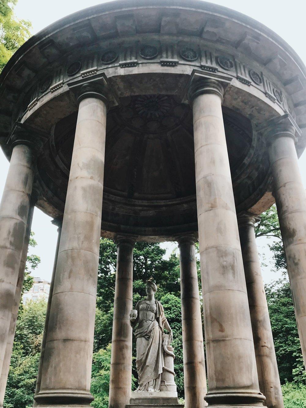 Hygia presides over St Bernard's Well