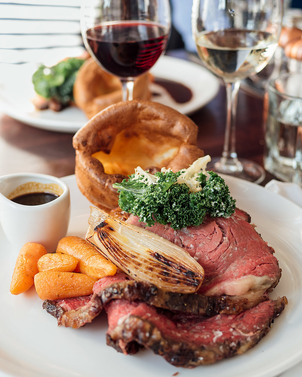 The main event, Sunday roast beef at Orto restaurant, Edinburgh