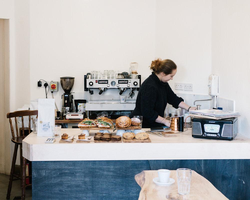 Little Fitzroy coffee shop Edinburgh interior