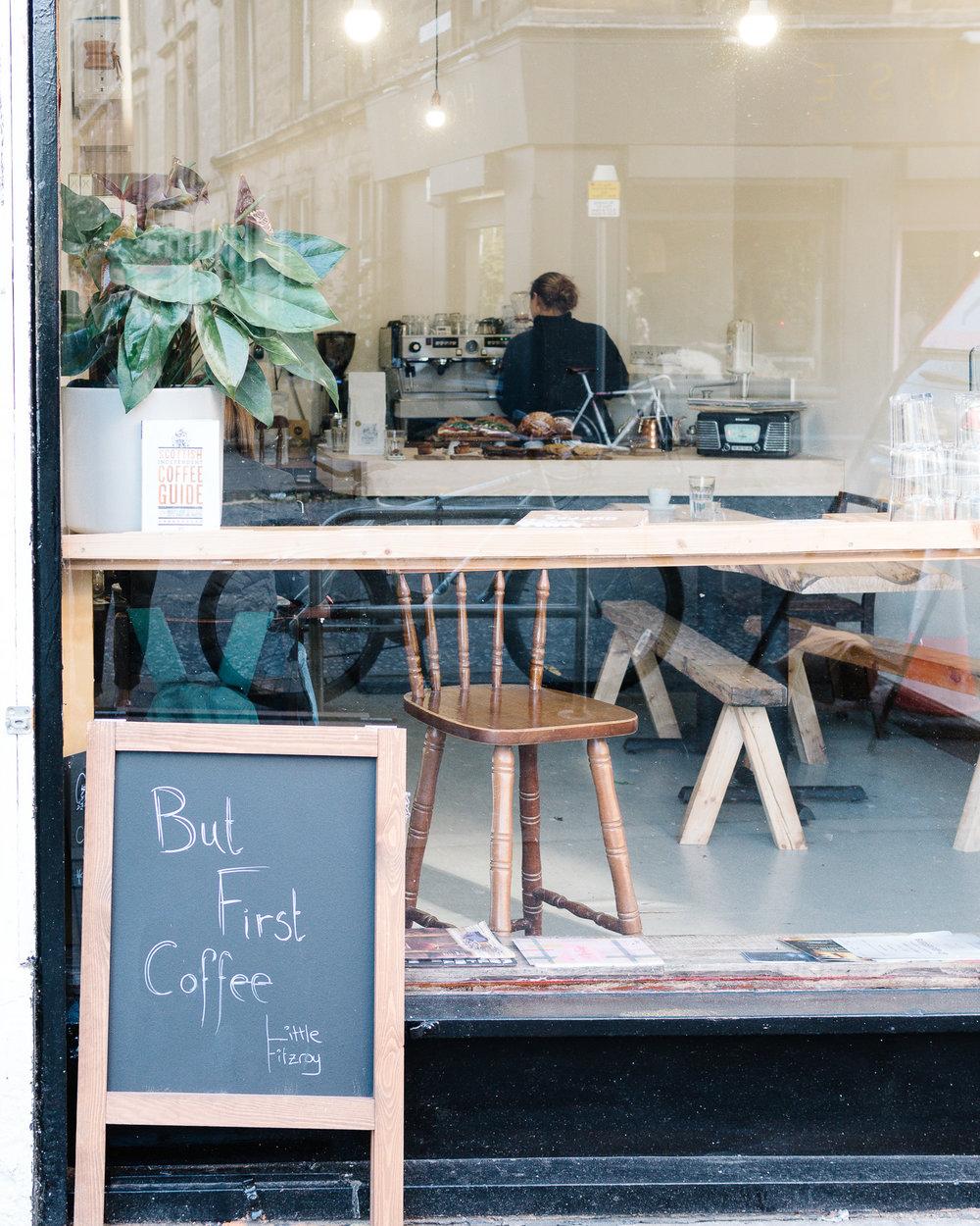 Little Fitzroy coffee shop Edinburgh exterior