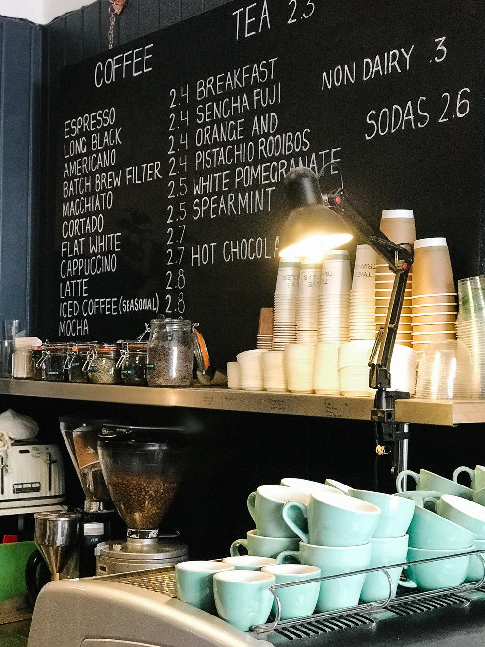 Twelve Triangles bakery Edinburgh serves excellent coffee