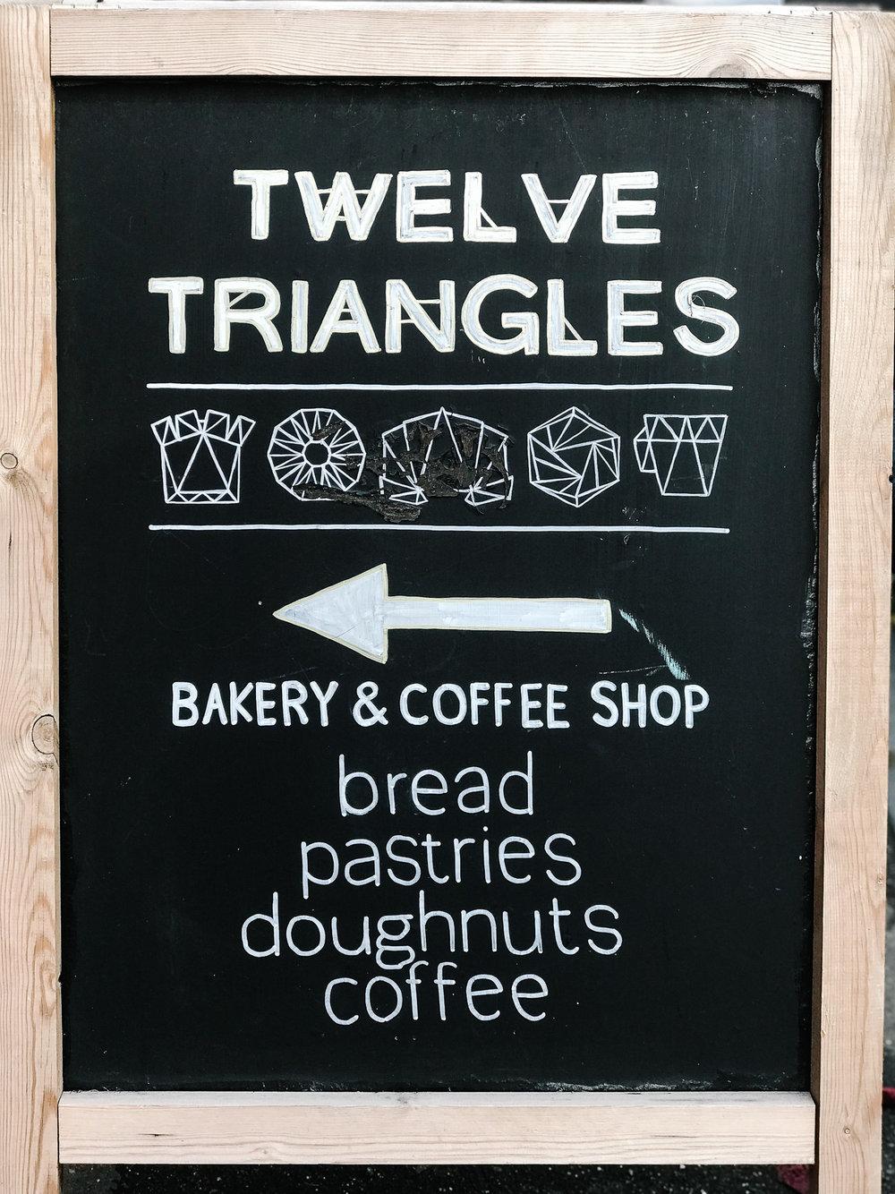 Twelve Triangles this way