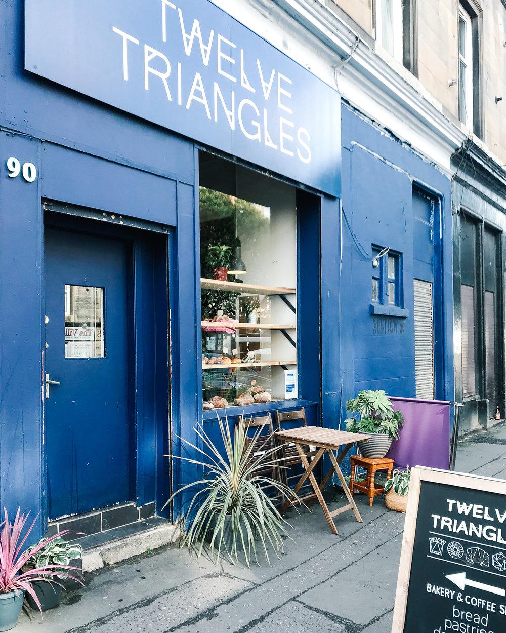 Twelve Triangles bakery Edinburgh