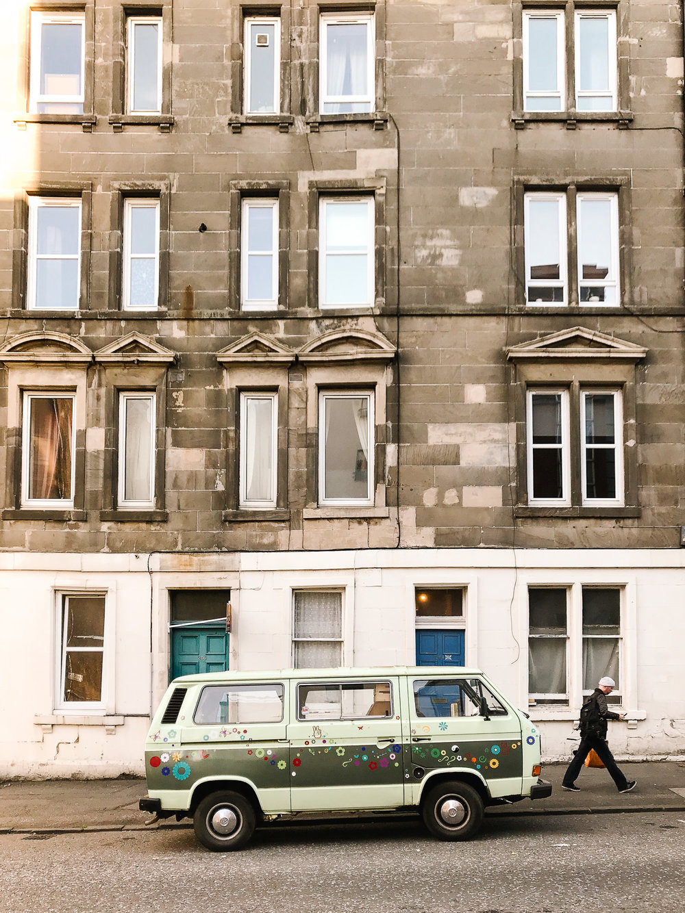 Vintage VW camper in Edinburgh
