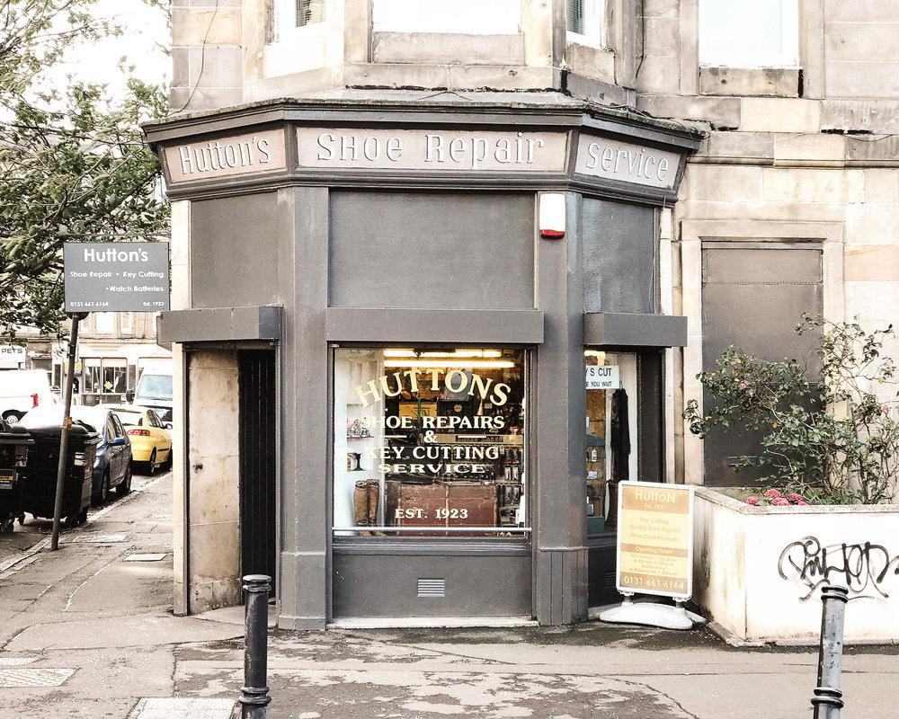 Huttons Shoe repair and locksmith, Easter Road Edinburgh