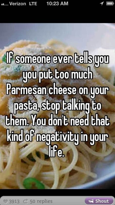 ie. Add that whole f*cking block of cheese if you want