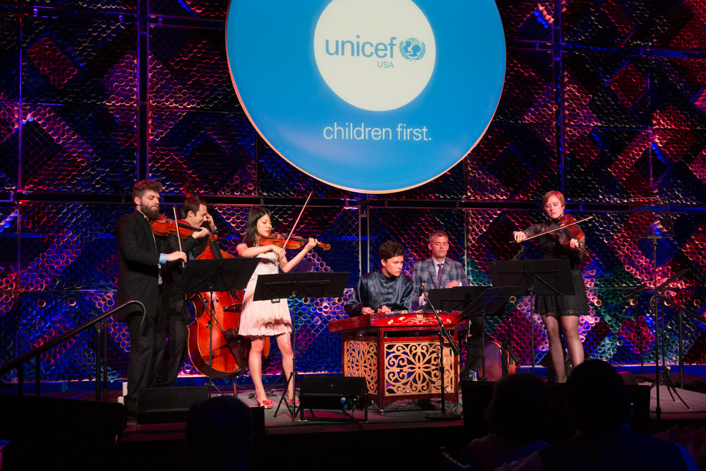 The Silk Road Ensemble performs at the 2017 UNICEF Children's Champion Award Dinner.  © Michael Blanchard Photography