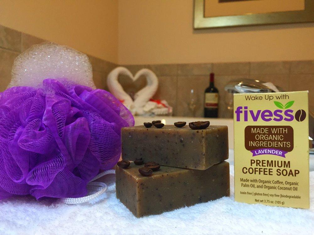 Fivesso Lavender Bar in Bathtub.JPG
