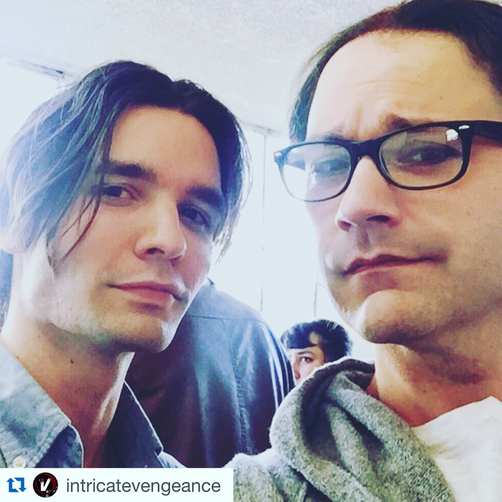 Vincent Cyr and Wilson Cleveland behind the scenes of Intricate Vengeance