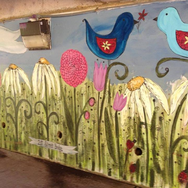Mural on 17th Street Underpass by Jaime Barks