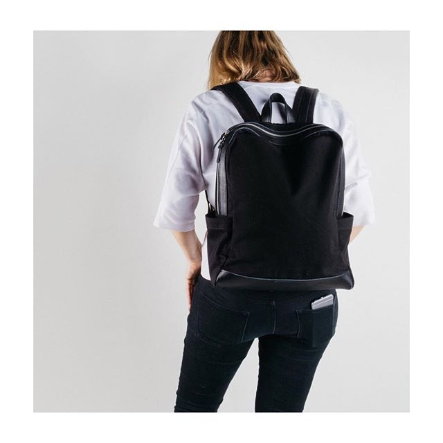 """• Backpacks are BACK • And ready to order off our Website • Great for Laptops, with a padded interior and space for up to 15"""" • Go check them out today • Also available in Navy/Cream and Maroon • ✌️🙌 •"""