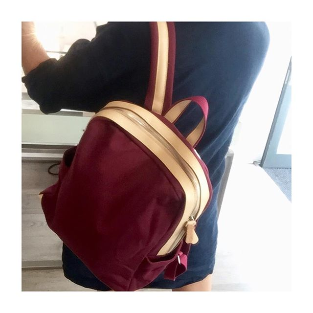 """• Canvas Backpacks • In stock and up on the website • Perfect bags for laptops, with a soft padded pocket & straps • Fits up to 15"""" Laptop 💻 • Check them out guys! • 🙌 •"""