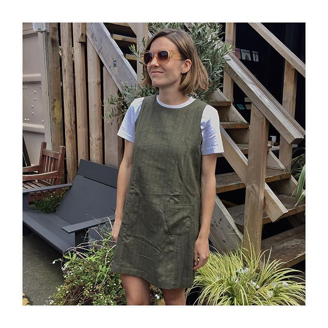 • Our new garms doing well @netilmarket today • Make sure you pop down before 6pm for your chance to look as cute as this customer 💁🏼 • You can get them online though if you can't make it down ✌️•