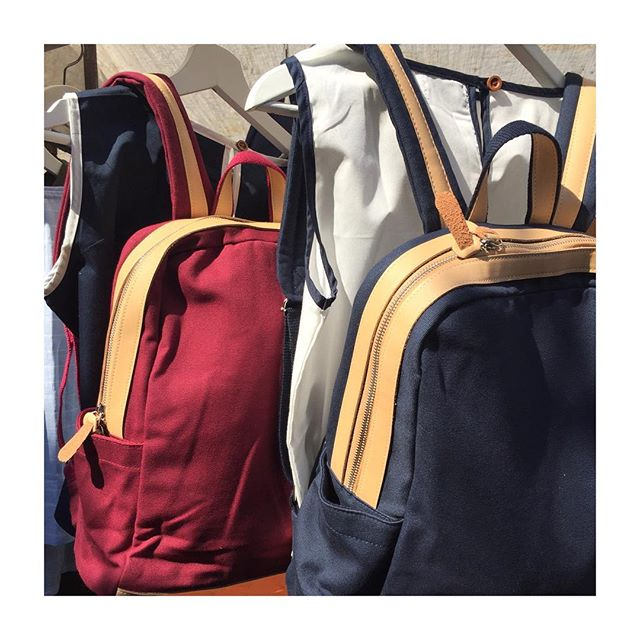 • Classic Combinations • Our bags and clothes looking great together in the sun @netilmarket • We're looking forward to being back down there this Saturday • Make sure you pop down to take a peak at our new stock! • Hopefully we'll see the sun again! ☀️ •