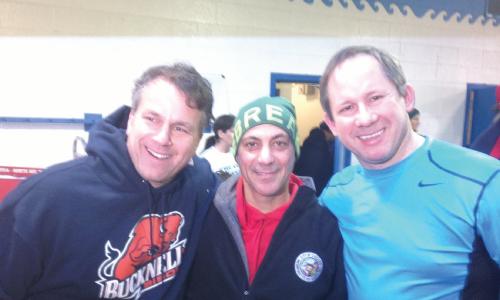 Glen Tullman, Mayor Rahm Emanuel and Dr. Richard Ferrans after the Polar Plunge