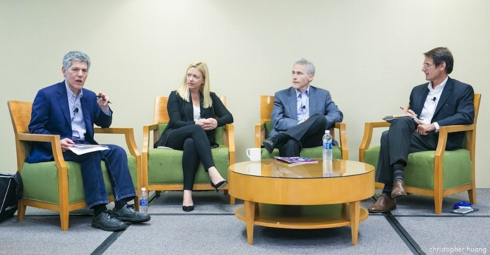 Left to right: Lee Shapiro (7wire Ventures), Emily Melton (Draper Fisher Jurvetson), Rich Gliklich, MD (General Catalyst), Casper de Clercq (Norwest Venture Partners).