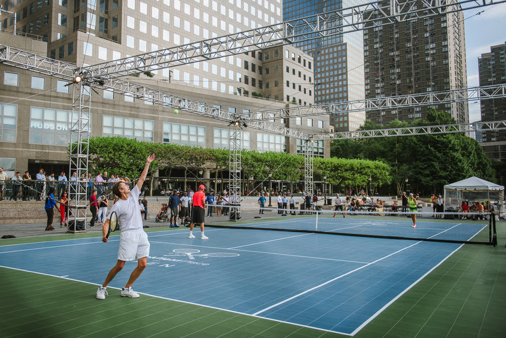 Brookfield Place Open 2016 (with Stan Smith and Iva Majoli)