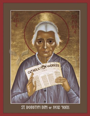 I love this Dorothy Day icon by  Br. Robert Lentz O.F.M.