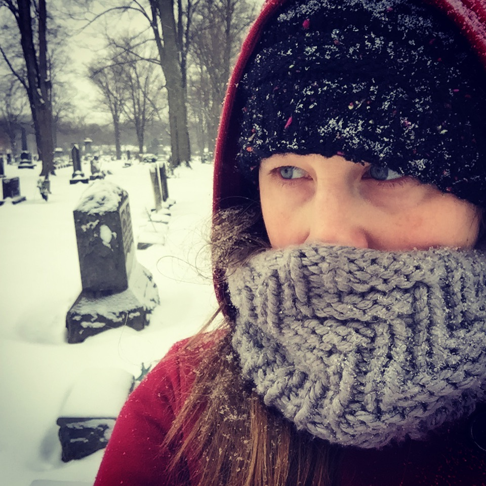 Cemetery, snow, solitude.