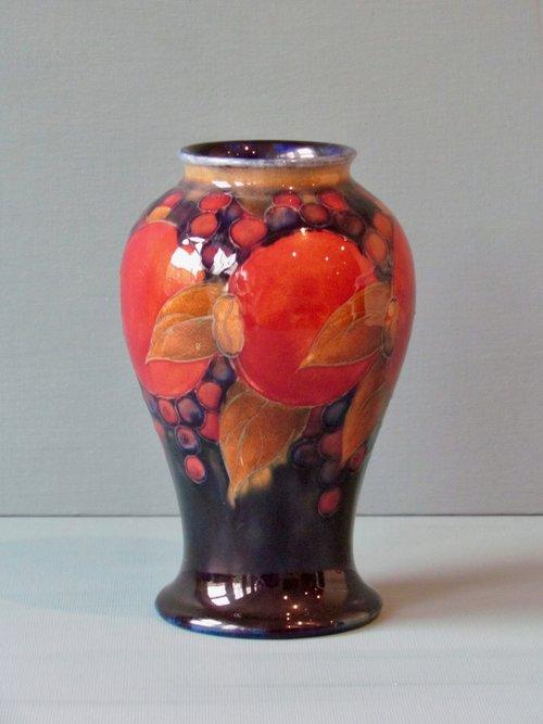 William Moorcroft Pomegranate Vase Walcot And Co