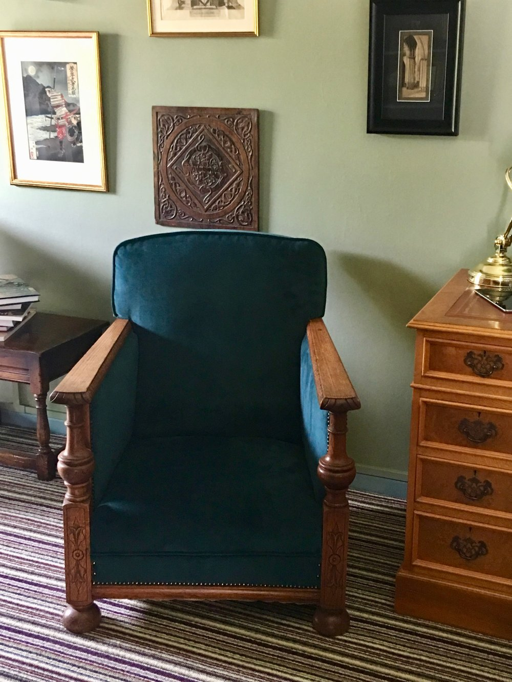 - Thank you for the chairs. The colour is great and they work beautifully in my sitting room. Oliver, Hertfordshire