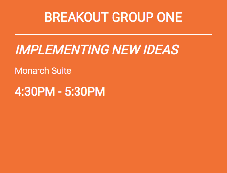 BREAKOUT GROUP INFORMATION