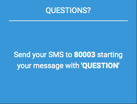 SUBMIT QUESTIONS VIA SMS