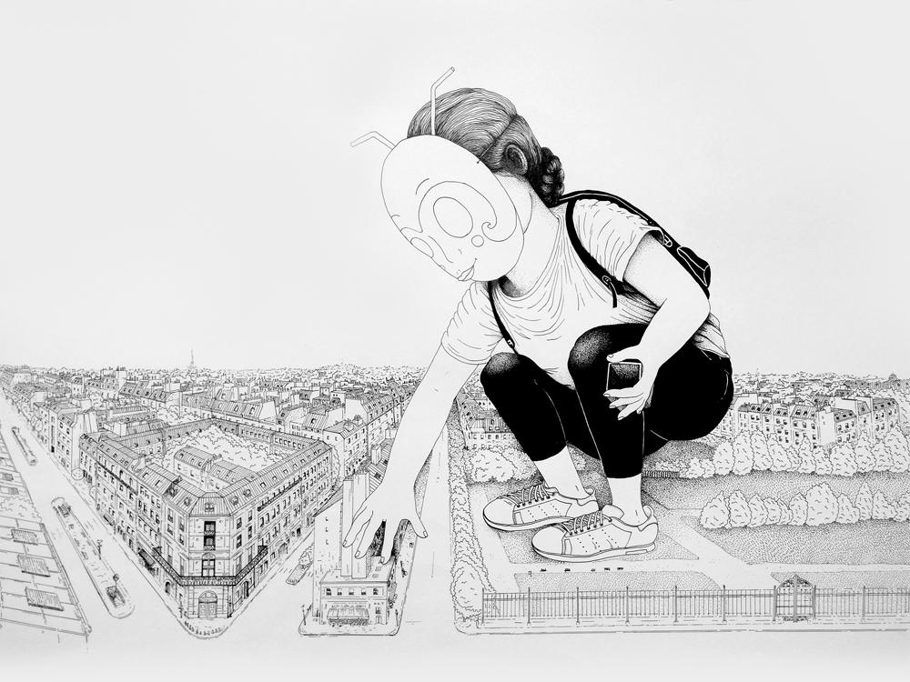 Giant in Paris  Valerie Chauffour  © LaRobotte  50 x 65 cm