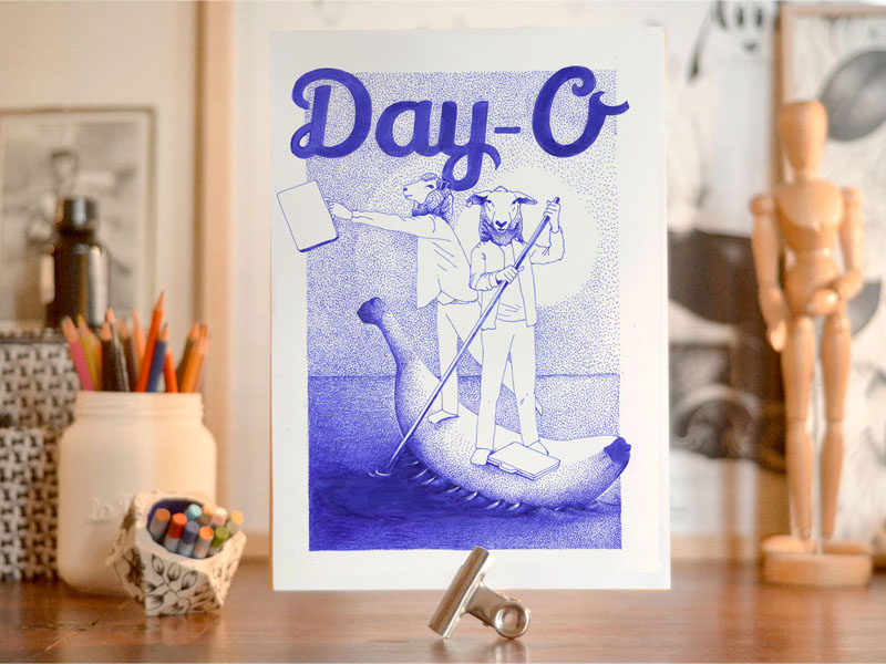 Day-O by Valérie Chauffour Blemy @larobotte