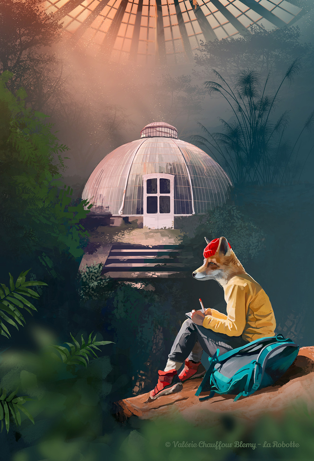Journey - Concept Art - Digital art by Valérie chauffour Blemy @LaRobotte