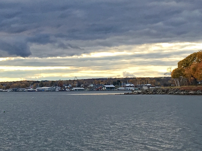 The beautiful view of Rockland from the  Samoset Resort