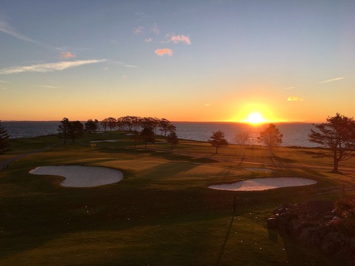 Waking up to a beautiful sunset at the  Samoset Resort